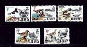 Guernsey-Alderney 13-17 MNH 1984 Birds