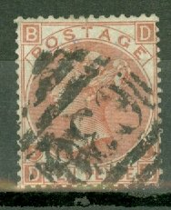 B: Great Britain 53 used C38 Callao Peru cancel est CV $350