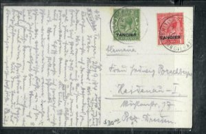MOROCCO COVER (PP2912B)  KGV 1/2D+1D ON PPC TO GERMANY