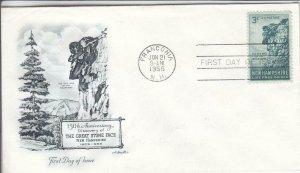 1955, 150th Anniv. Great Stone Face, Artmaster, FDC (D14780)