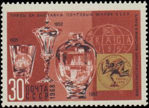 1968 Russia #3534-3540, Complete Set(7), Never Hinged
