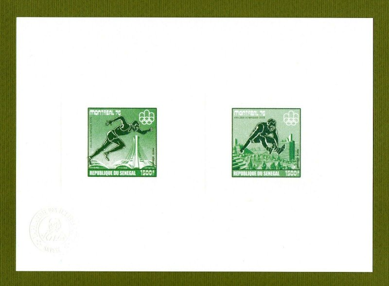 Senegal proof of collective gold issue 1976 Olympics Athletics