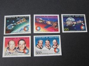 Burkina Faso 1975 Sc 370-1,C216-8 space set MNH