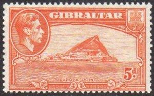 Gibraltar 1947 5d red-orange (P 13) MH
