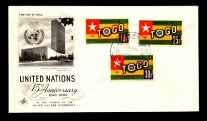 Togo 1960 Admission to UN FDC / High Values - L9077