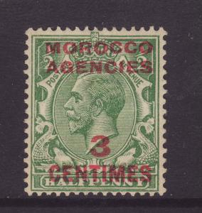 1917 Morocco Agencies 3 Centimes Opt On GB ½d Mounted Mint SG191