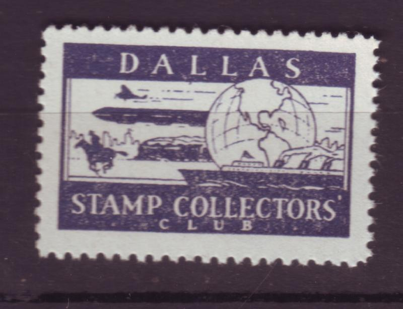 J18506 JLstamps cinderella-poster dallas tx stamp collectors club mnh zeppelin