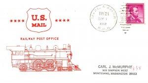 1967 McAl. & Amar R.P.O.Railroad+Train Cachet #111