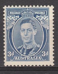 AUSTRALIA 1937 KGVI 3D DIE IA MNH **