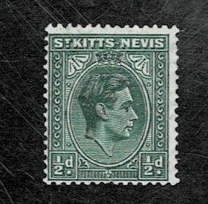 St Kitts Nevis 1937 Geo Vl MH