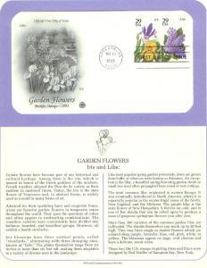 Flower, Iris & Lilac, FDC (USHFDC2763-4)