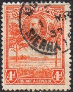 Sierra Leone 1932 4d orange used