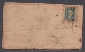 **CSA Cover, SC# 11, Charlottesville, VA, 1864??, Turned Cover