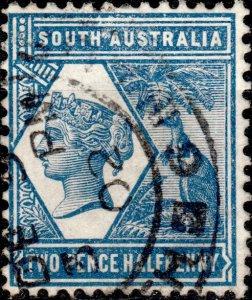 SOUTH AUSTRALIA - 1898 - SG237 2-1/2d indigo p.13 - Very Fine Used