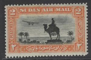 SUDAN SG53 1931 2p BLACK & ORANGE p14 MTD MINT