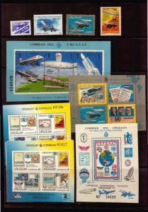 STAMPS & COVERS CONCORD CONCORDE PLANE URUGUAY HIGH CATALOGUE VALUE $$