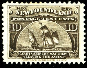 Newfoundland #59 MINT OG HR TINY THIN