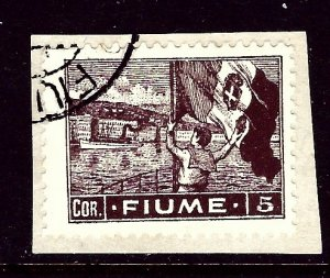 Fiume 42 Used on paper 1919 issue    (ap3372)