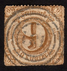 1866 Germany, Thurn & Taxis 9Kr, Used, Sc 63