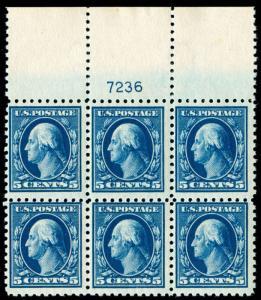 momen: US Stamps #428 Mint OG NH Plate Block of 6 VF