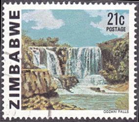 Zimbabwe # 424 used ~ 21¢ Odzani Falls