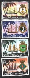 Solomon Islands. 1980. 405-8. Sailboats, emblems, dog. MLH.