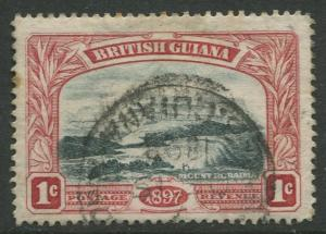 STAMP STATION PERTH British Guiana #152-QV 60TH Anniv. Throne Used Wmk 1 CV$3.00