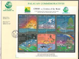 PALAU SC# 303 VF U 1992 1ST DAY P.C.