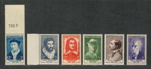 France Sc#B303-308 M/NH/VF, Complete Set, Cv. $35.75