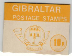 GIBRALTAR MNH Scott # 340, 344 (3) Early Booklet (4 Stamps)