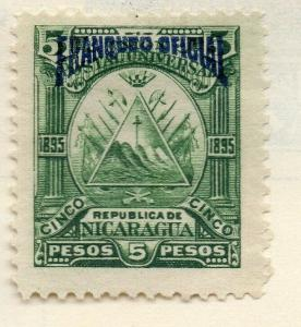 Nicaragua 1895 Early Issue Fine Mint Hinged 5P. Official Optd 323747