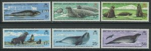 Br Antarctic Territory 1983 Seals set Sc# 96-101 NH