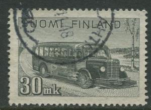 Finland - Scott 253A - Post Bus -1946- Used - Single 30m Stamp