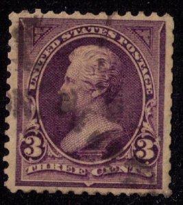 US Sc 253 Used Purple Violet 3c F-VF