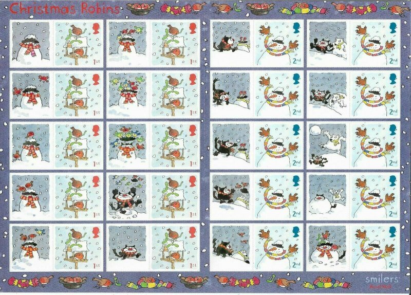 LS27 GB 2005 Christmas Robins Smiler sheet UNMOUNTED MINT/MNH