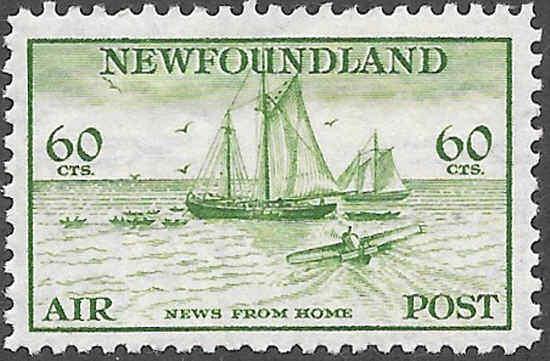 Newfoundland Airmail Stamp Scott Number C16 FVF HR