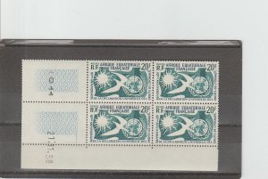 French Equatorial Africa  Scott#  202  MNH  Block of 4  (1958 Human Rights)