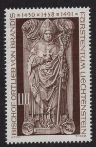 Liechtenstein  #614  1976  MNH  sarcophagus statue von Brandis of Chur