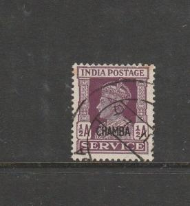 India Chamba Official 1940/3 1/2A Used SG O74