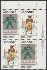 Canada - #577a Subartic Indians Plate Block  - MNH