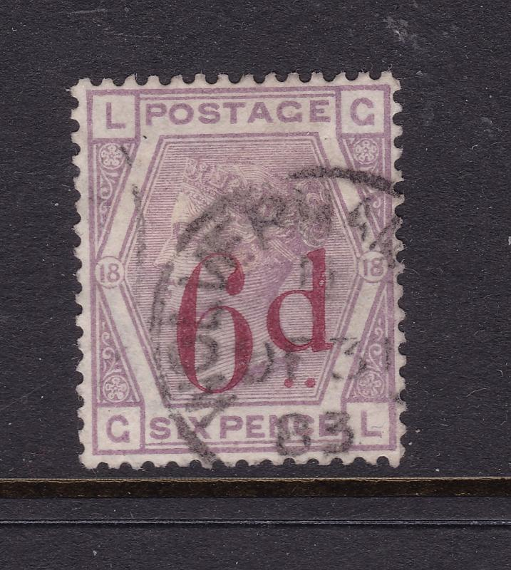 Great Britain a QV 6d on 6d used