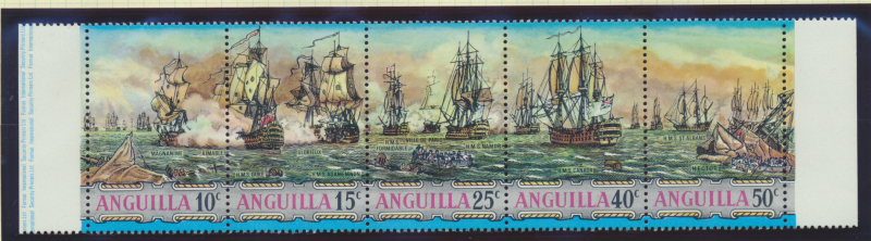 Anguilla Stamp Scott #131a, Mint Never Hinged, Strip of 5 - Free U.S. Shippin...
