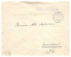 Finland Military Free Mail 1942 Kenttapostikonttori No. 6 to Rovaniemi SPR wi...