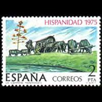 SPAIN 1975 - Scott# 1918 Pioneer Wagon 1p NH