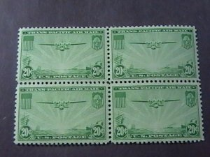 U.S.# C21-MINT/NEVER HINGED---BLOCK OF 4---AIR-MAIL---1937