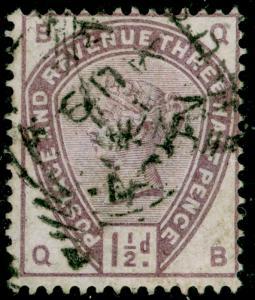 SG188, 1½d lilac, USED. Cat £45. QB