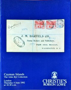 Auction Catalogue CAYMAN ISLANDS - The John Byl Collection