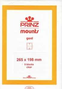 PRINZ CLEAR MOUNTS 265X198 (5) RETAIL PRICE $14.00