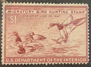 US Stamps #RW13 Used Federal Ducks #RW13A150