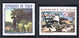 CHAD C43-C44 MNH SCV $9.00 BIN $5.40 ART